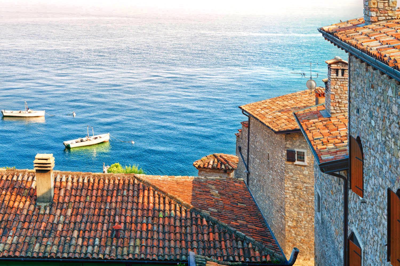 Landschaft; Italien; Brescia, Lombardei, Lombardia, Lago Di Garda, Gardasee, Gagnano| Landscape; Italy; Europe; Garda Lake
