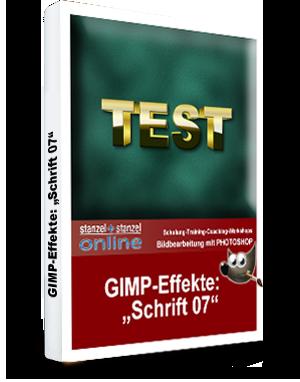 GIMP-AKADEMIE-Schriften Effekt 07
