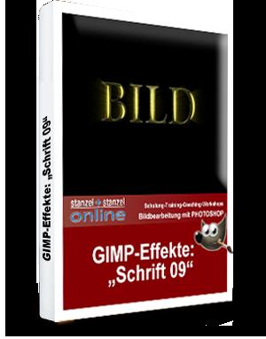 GIMP-AKADEMIE-Schriften Effekt 09
