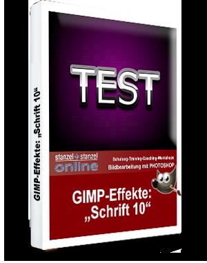 GIMP-AKADEMIE-Schriften Effekt 10